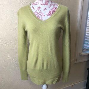 Covington V Neck Cashmere Sweater S Sage Green